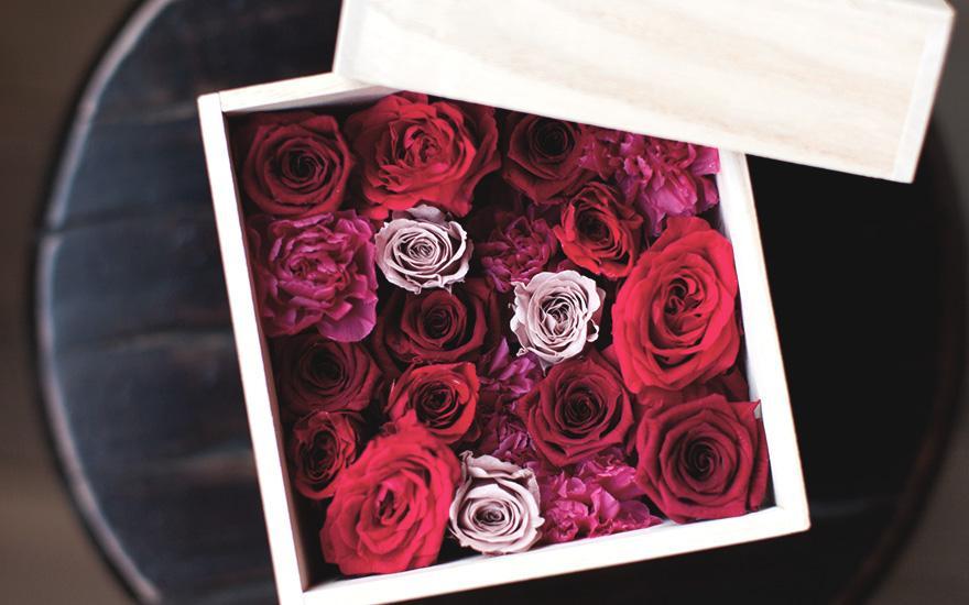 Róże wpudełku